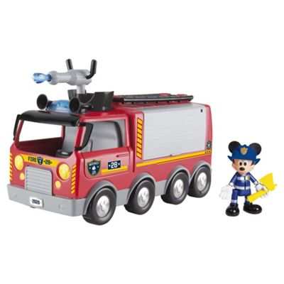 Disney Mickey Mouse Clubhouse Emergency Fire Truck Vehicle with Mickey