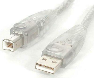 StarTech 4.6 m Transparent USB 2.0 Cable Black