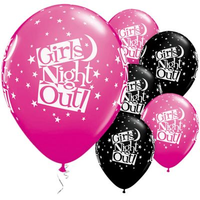 Girls Night Out Stars 11 inch Latex Balloons - 25 Pack