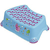 Hippo Baby Step Stool Blue