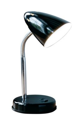 Premier Housewares Flexi Desk Lamp - Black