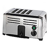TSSL14CHR 4 Slot Stainless Steel Commercial Toaster with Chrome Ends