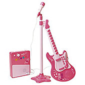 Carousel Pink Rock Star Guitar with Microphone and Amp