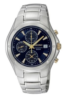 Seiko Gents Chronograph Watch SNDB01P1