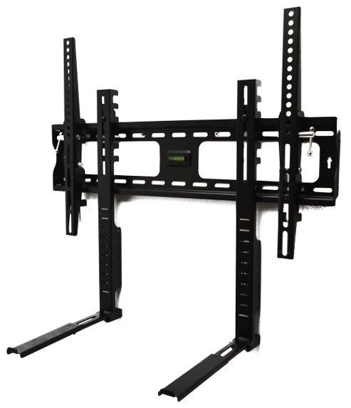 Universal Black Tilting Wall Bracket with Shelf