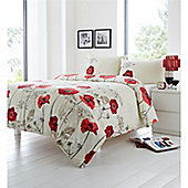 Fusion Chara Red Quilt Cover Set - Double