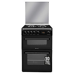 Hotpoint Newstyle Gas Cooker with Gas Grill and Gas Hob, HAGL60K - Black