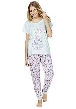 Disney Minnie Mouse Floral Pyjamas - Blue & Pink