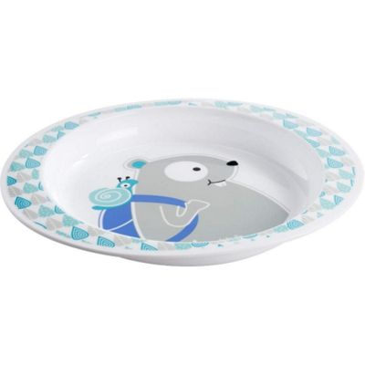 Badabulle Microwaveable Plate (Blue Beaver)