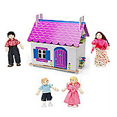 Le Toy Van Anna's Little House Dollshouse and My Family of 4 Dolls
