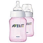 Philips Avent Bottle - Classic - 260ML - 2 pack - Pink