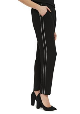 Wallis Contrast Piped Joggers Black 10