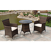 Cannes Garden Bistro Set - Mocha Brown