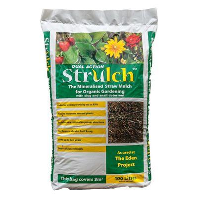 Strulch Organic Wheat Straw Mulch 100L
