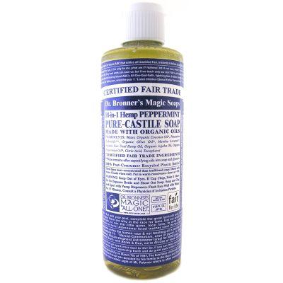 Dr Bronner's Organic Peppermint Castile Liquid Soap 236ml
