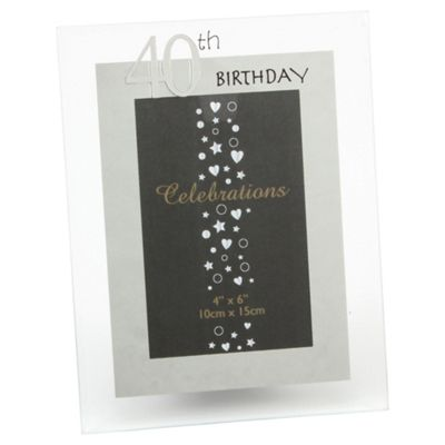 Glitzy 40th Photo Frame