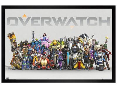 Overwatch Black Wooden Framed Anniversary Line Up Poster 61 x 91.5cm