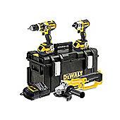 Dewalt DCK382M2-GB 18 V XR Li-Ion Brushless Combi Drill/Brushless Impact Driver/Angle Grinder