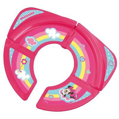 Disney Minnie Mouse Travel Folding Toddler Toilet Training Seat - Pink