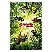 LEGO® Ninjago Movie Bamboo Gloss Black Framed Poster 61 x 91.5cm