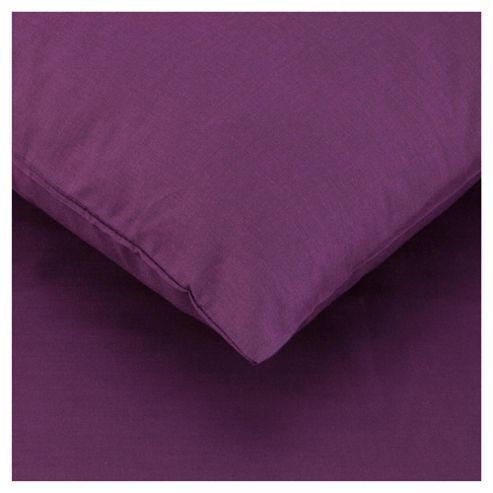 Tesco Twinpack Housewife Pillowcases Aubergine