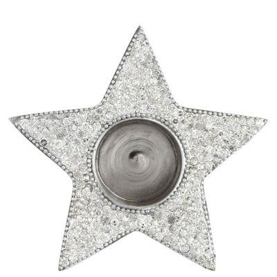 Glitz Nickel Star Tealight Holder
