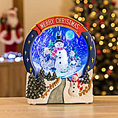 Christow LED Snowing Christmas Scene - Snowman