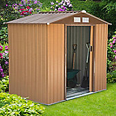 Outsunny Lockable Garden Shed (4 x 6FT, khaki)