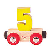 Bigjigs Rail Rail Name Number 5 (Yellow)