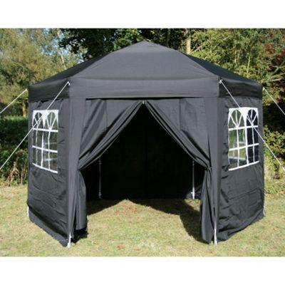 Airwave Hexagon Pop Up Gazebo Fully Waterproof 3.5m in Black