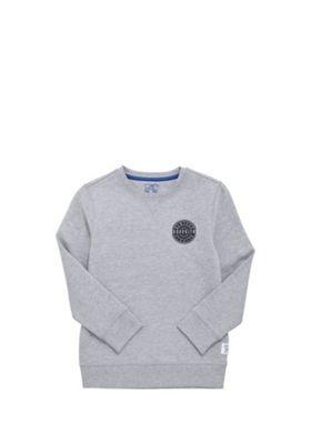 F&F Brooklyn Patch Sweatshirt with As New Technology Grey 7-8 years