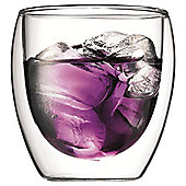 Bodum Pavina Set of 2 250ml Double Walled Glass Cups