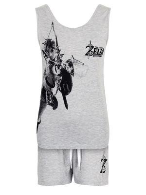 The Legend of Zelda Breath Of The Wild Women's Pyjama Set, Grey