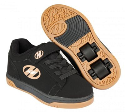 Heelys Dual Up Black/Gum Kids Heely X2 Shoe UK 3