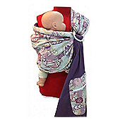Palm and Pond Ring Sling Baby Carrier - Purple Paisley
