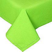 Homescapes Plain Cotton Lime Green Tablecloth, 54 x 90 Inches
