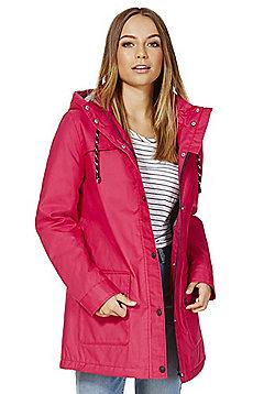 F&F Coated Shower Resistant Fisherman Jacket - Pink