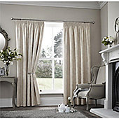 Curtina Palmero Scroll Cream Thermal Backed Curtains 90x108 Inches (229x274cm)