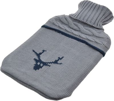 Harbour Housewares Full Size Hot Water Bottle With Knitted Cover - Reindeer