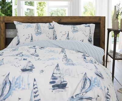 Sailing Boat King Size Bedding - 100% Cotton