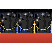 Hollywood Star Attraction Red Carpet Room Setter - 1 roll
