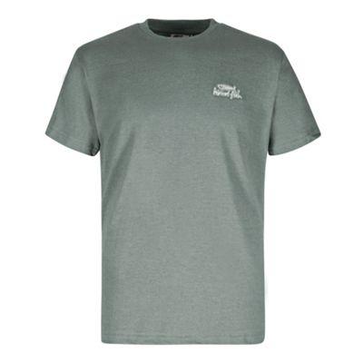 Weird Fish Mens Bones Embroidered T-Shirt Artichoke S