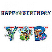 Paw Patrol Party Card Letter Banner