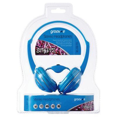 Groov-e GV897 Streetz Stereo Headphones with Volume Control Blue