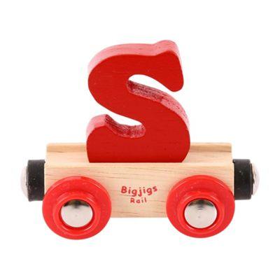 Bigjigs Rail Rail Name Letter S (Dark Red)