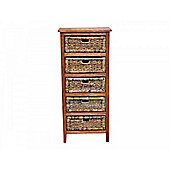 Abaca Storage Rack - 5 Drawer