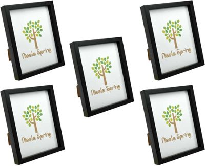 Black 8x10 Box Photo Frame - Standing & Hanging - Pack of 5