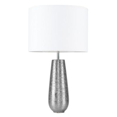 Hastings 65cm Touch Dimmer Table Lamp - Silver & White