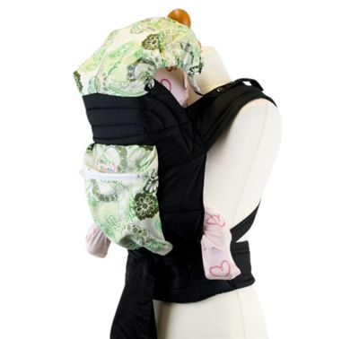 Mei Tai Baby Carrier With Hood & Pocket - Celadon Paisley