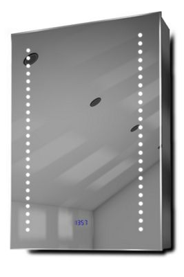 Buy Ghita Clock Led Bathroom Cabinet With Demister Pad